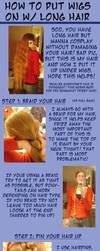 How To Wear Wigs w Long Hair by kojika