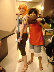 Afest Nami and Luffy by kojika