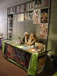 TsubasaCon Artist Alley Table by kojika