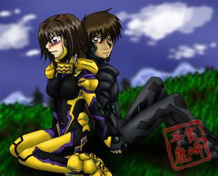 Commission: Yui and Yuuya by kojika