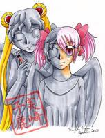 Commission: Weeping Angel makeup by kojika