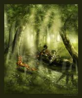 Summer in the Pan Woods by Losmios