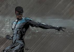 Nightwing by Saxon-Blake
