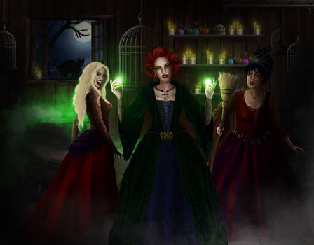 Hocus Pocus - The Sanderson Sisters by Luh-Dwolf