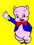 Porky Pig Colored by AellaPax