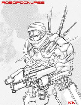 Robopocalypse Sketch by KomicKarl