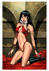 Vampirella Print by KomicKarl