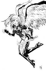 Wing Girl by KomicKarl