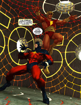 Captain Marvel and Adam Warlock 50th Final by CWRudy