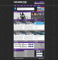 Gaming website Purple by w3nky