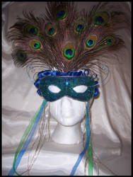 Peacock Queen Mask by PurrpleCatt