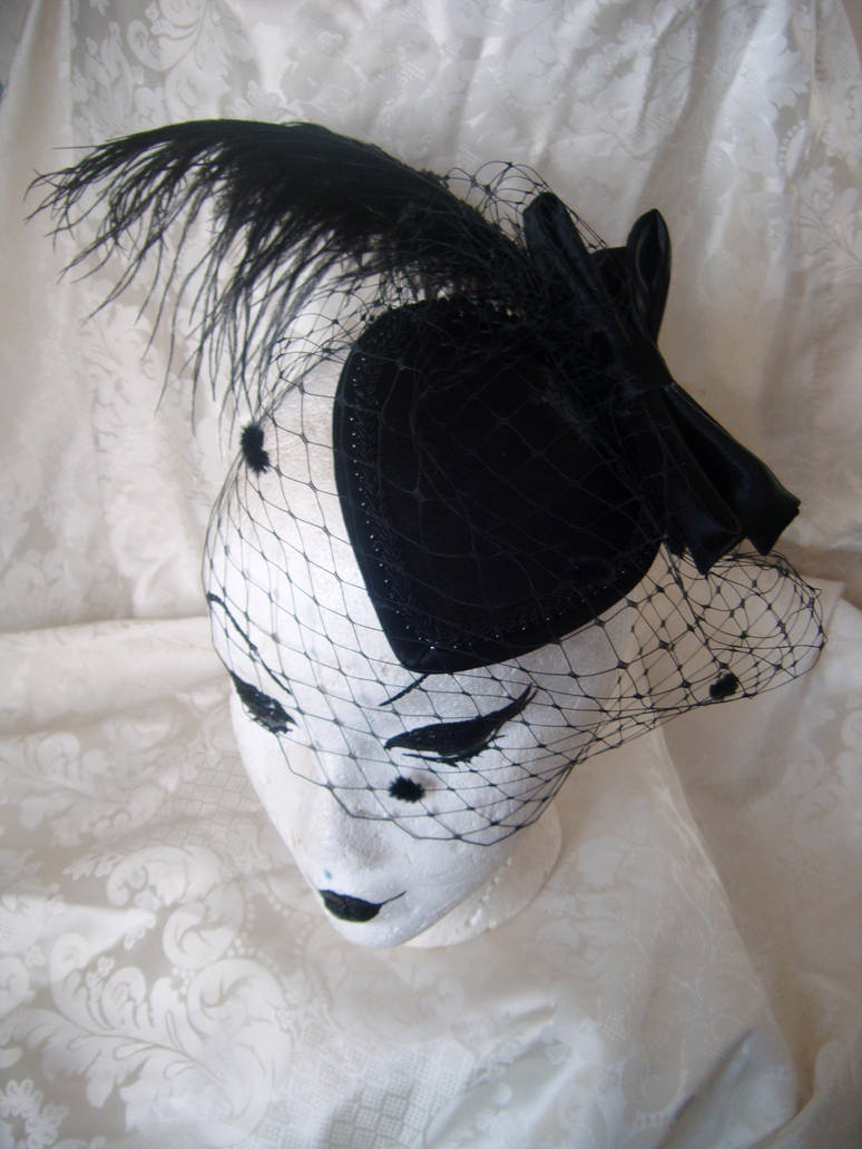 Black Teardrop Fascinator by PurrpleCatt on DeviantArt d926559174c
