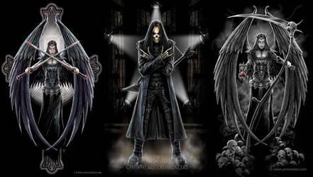 Dark Angels And Goth Rock by Stitchfan001
