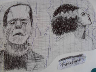 Frankenstein Doodle by merrymexicans