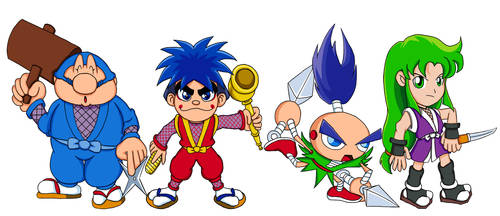 Ganbare Goemon Team by Greasy-LucarioYun