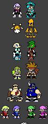 Tetra Crew and Quatro Gang NES by Ganbare-Lucifer
