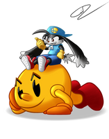 Namco Mascots - Klonoa and Pac-man by GdGreat