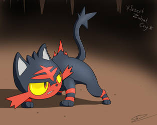Litten - The Fire Starter by GdGreat