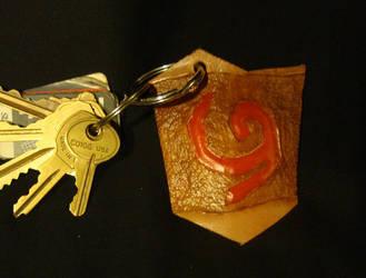 Leather Deku Shield Keychain by DerGrundel