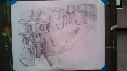 TF2 Sentry Drawing by xeno-scorpion-alien