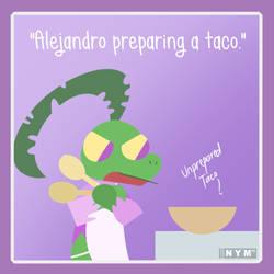 Alejandro Cooking Tacos by KofiKrumble