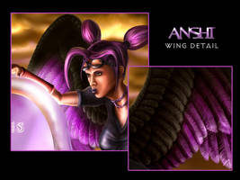 Anshi - Wing Detail by toddworld