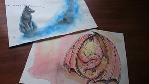 Watercolor Test by she0wolf