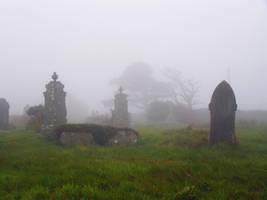Foggy Graveyard II - Stock by Sassy-Stock