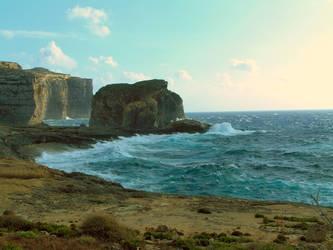 Sandy cliff beach - Stock by Sassy-Stock