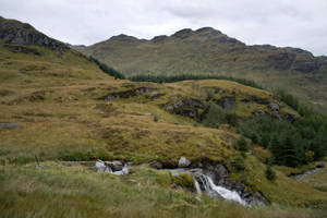 Scottish mountains and waterfall stock 2 by Sassy-Stock