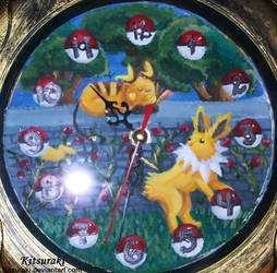Raichu and Jolteon Clock by Kitsuraki