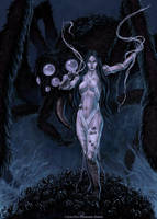 Morrigna Psychopomp by SpiralMagus