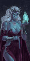 Drow Wizardess by SpiralMagus