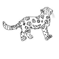 Female Amur Leopard Lineart!! by Weesie97