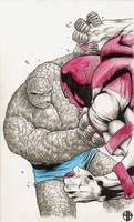 The Thing vs. Juggernaut by BrettBarkley