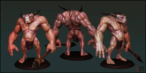 Bull Skull final by rickystinger88