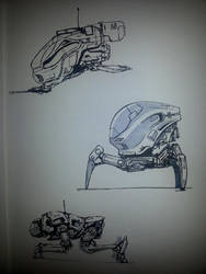 Mech thumbnails 01 (Brush pen) by rickystinger88