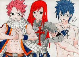 Request: Natsu, Ezra and Gray ~ Fairytale by Kisarasmoon