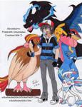 Ash and his Pokemon by Kisarasmoon