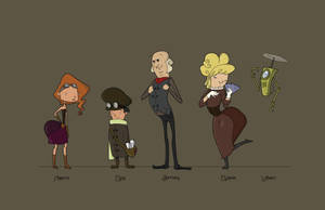 Steampunk Lineup Colored by adrianaherreraart