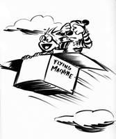 Flying Machine by heatherbunny