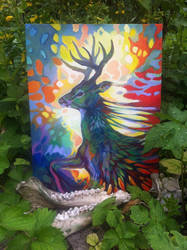 Deer Painting by Maquenda