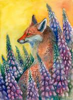 Foxgloves by Maquenda