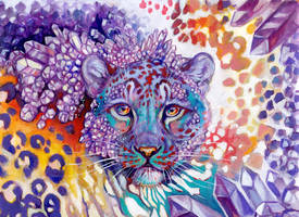 Crystal cave leopard by Maquenda