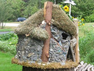 Blue Door Fairy House by chicolet