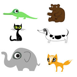ABC animals A - F by cottoncandrea