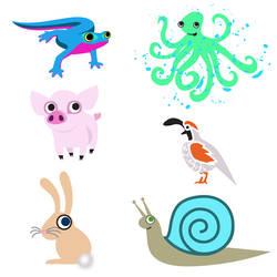 ABC Animals N - S by cottoncandrea