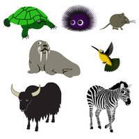 ABC Animals T - Z by cottoncandrea
