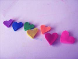 Rainbow Dough Hearts by MateaLoncar
