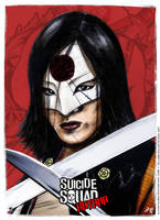Katana - Suicide Squad poster by elfantasmo